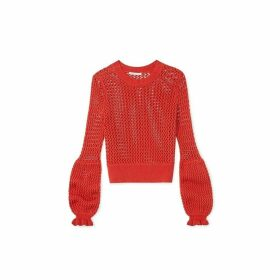 Rebecca Minkoff Knitted Bianca Sweater Terracota