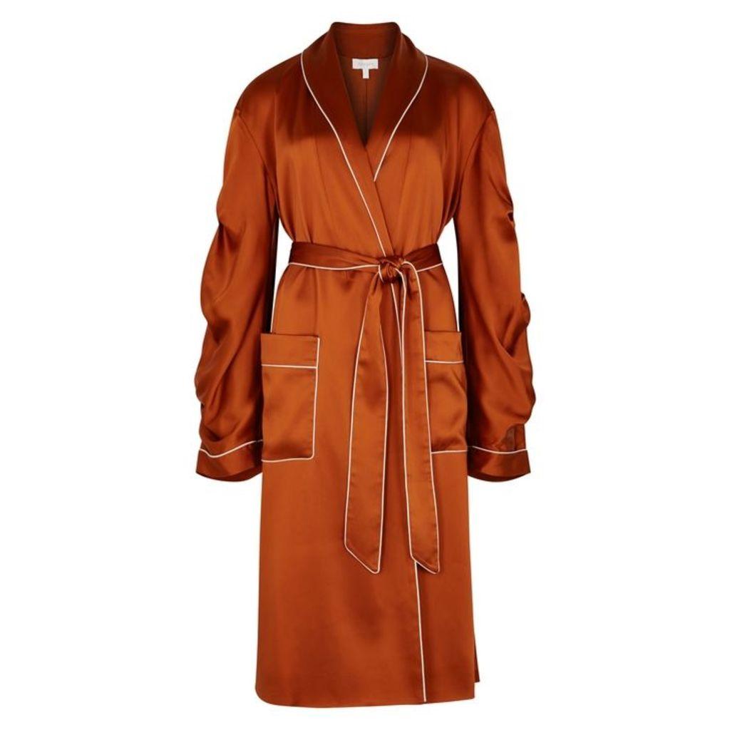 Jonathan Simkhai Burnt Orange Satin Jacket