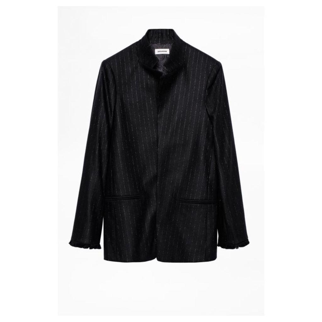 Zadig & Voltaire Volly Stripes Franges Jacket