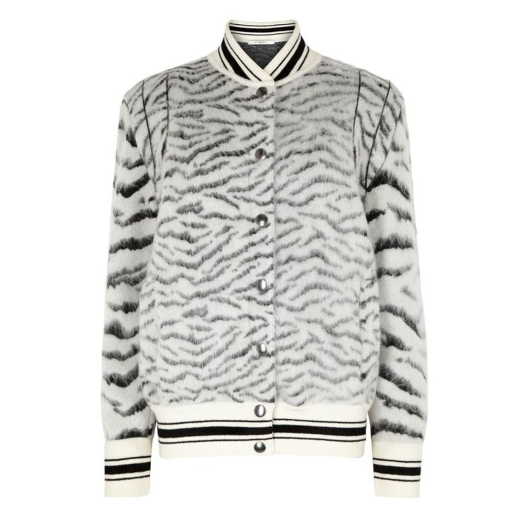 Givenchy Mohair-blend Knitted Bomber Jacket