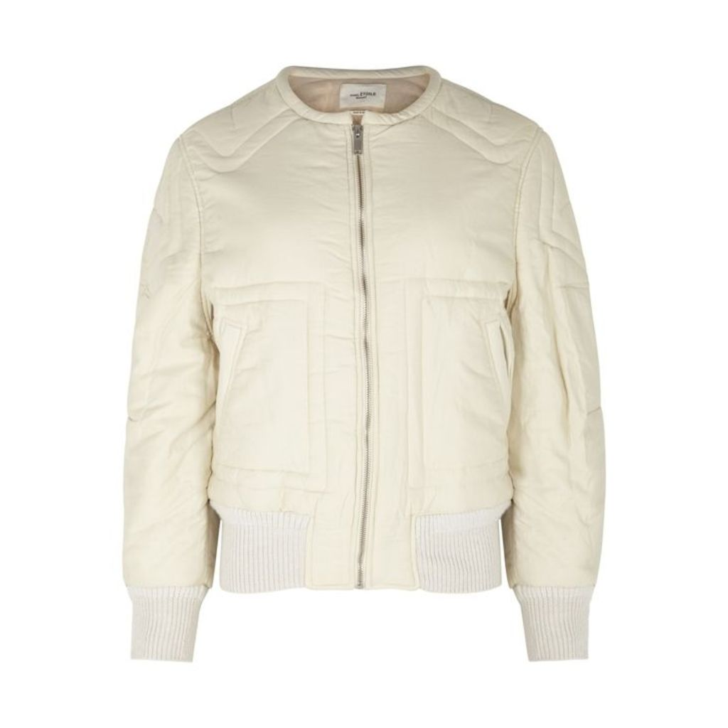 Isabel Marant Étoile Nicky Off-white Quilted Bomber Jacket