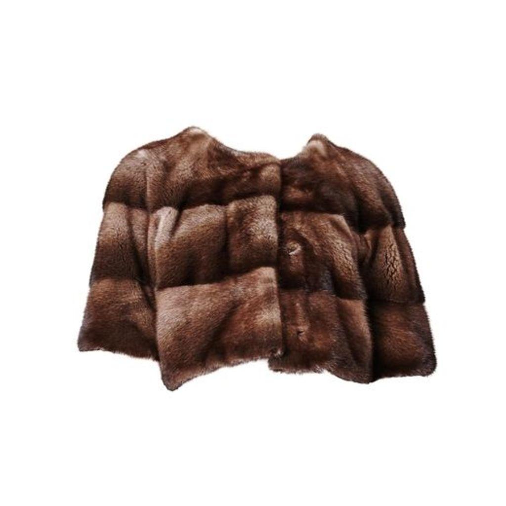 Lilly E Violetta Sarah Mini Mink Fur Jacket Bosco