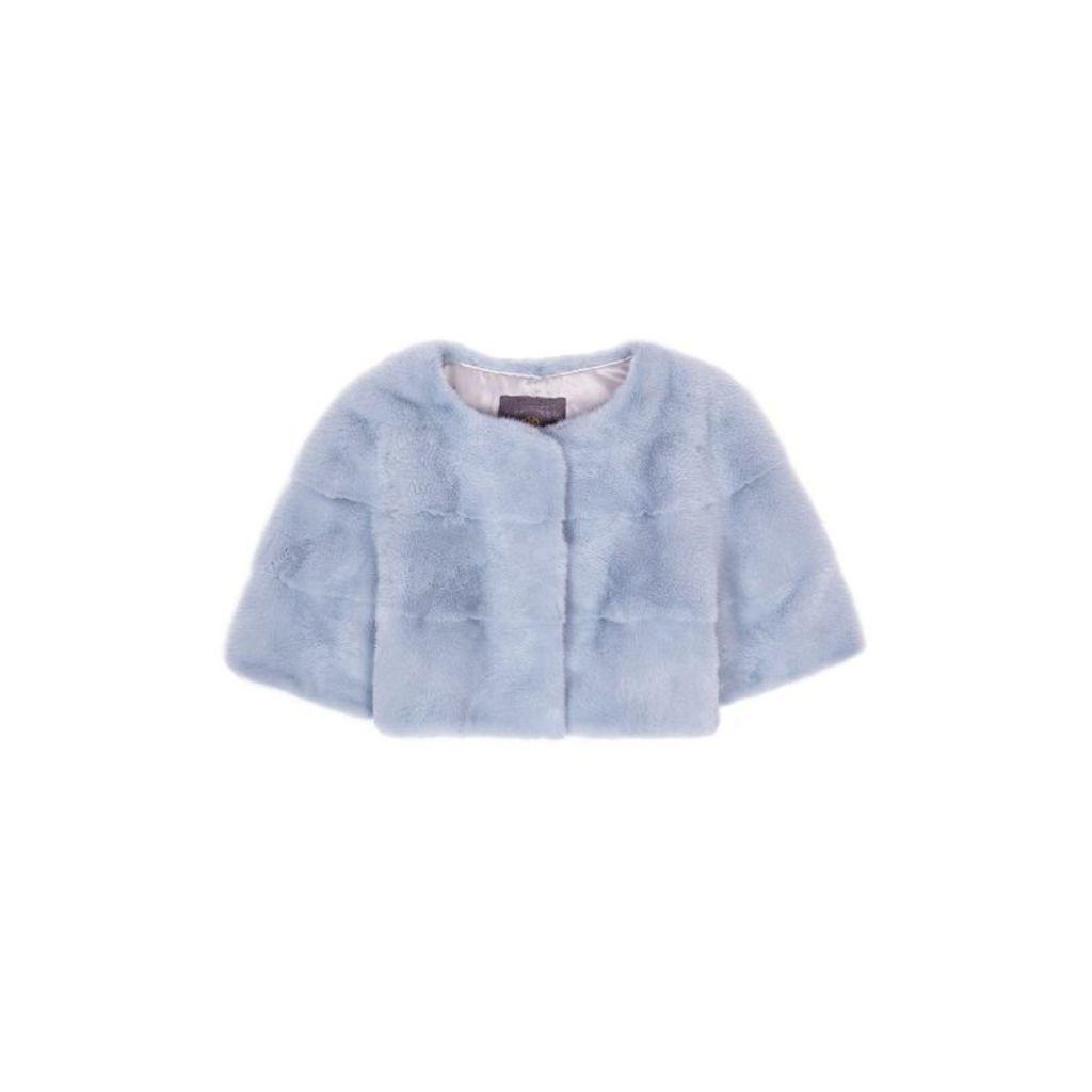 Lilly E Violetta Sarah Mini Mink Fur Jacket Nuvola
