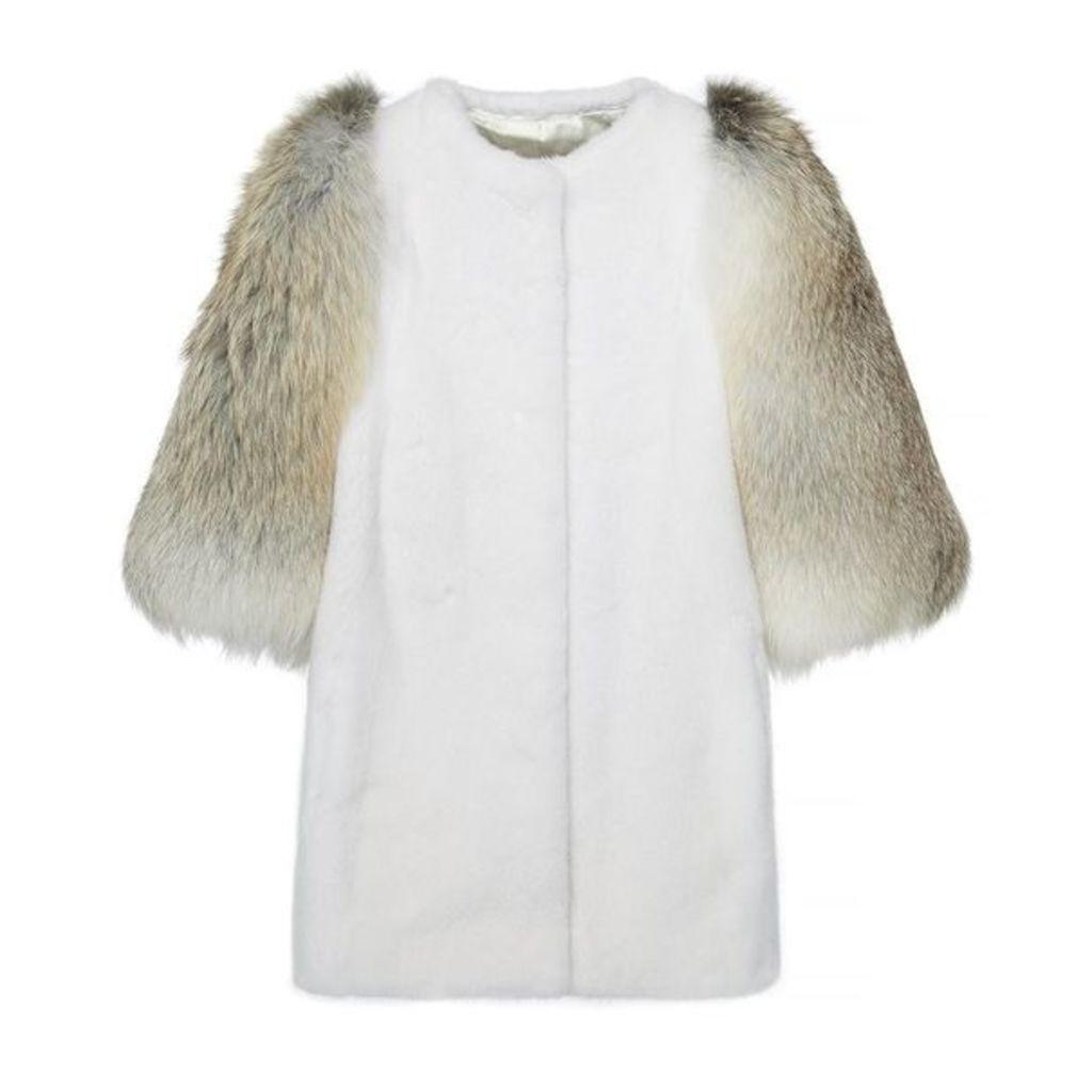 Lilly E Violetta Gaga Mink And Fox Fur Jacket