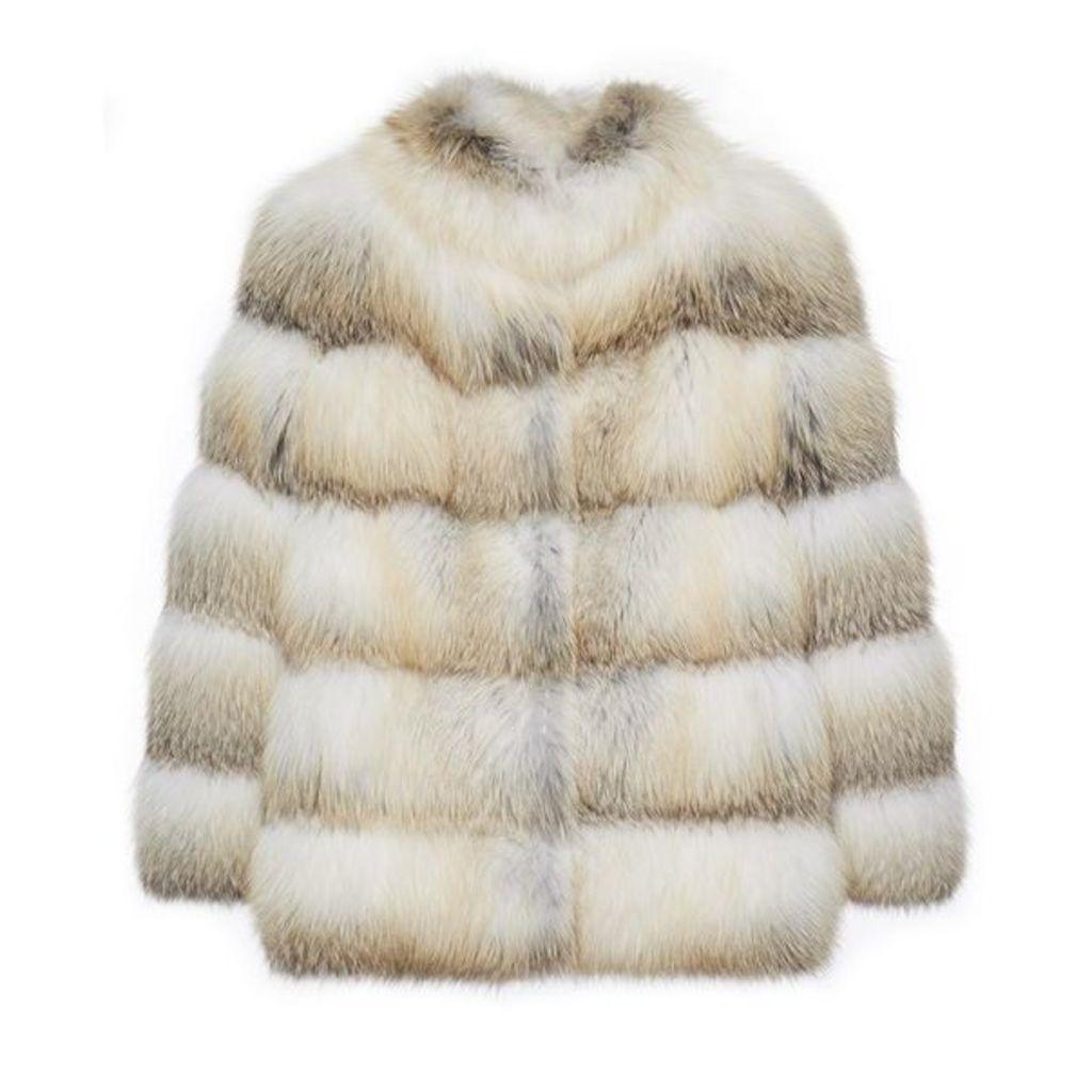 Lilly E Violetta Olga Fox Fur Jacket