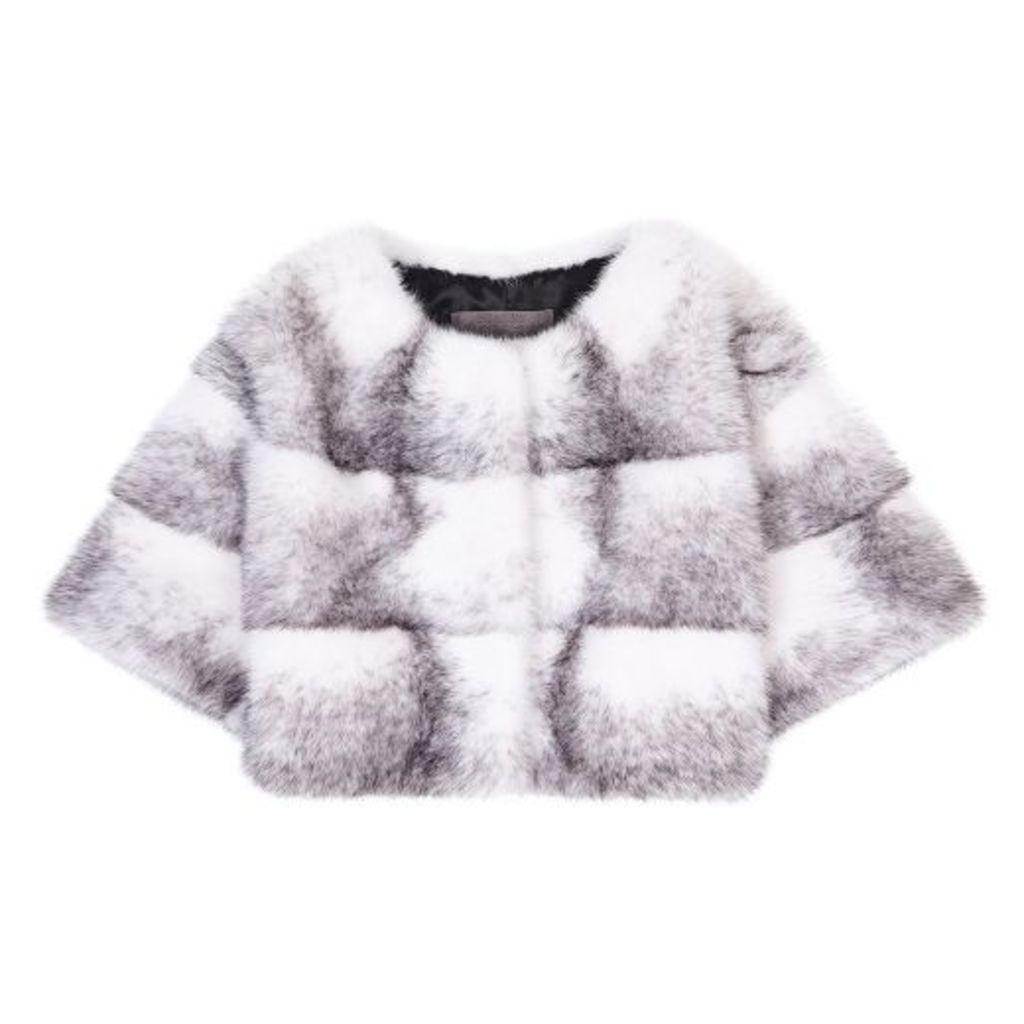 Lilly E Violetta Sarah Mini Mink Fur Jacket Cross Mink