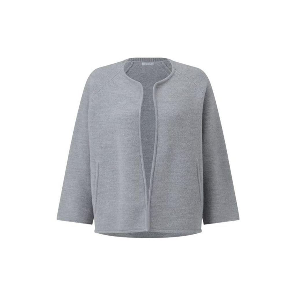Jigsaw Boiled Wool Side Zip Jacket