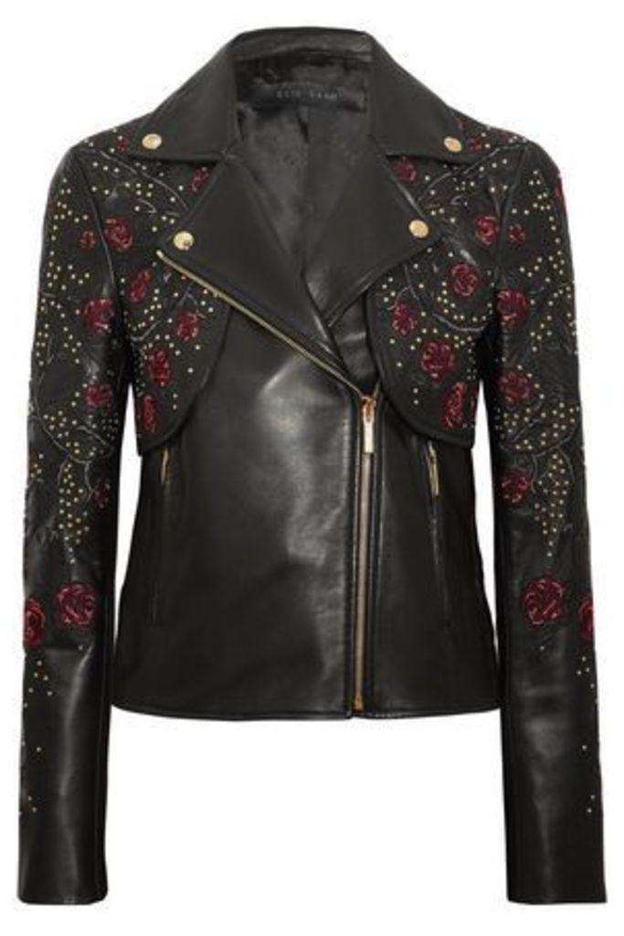 Elie Saab Woman Biker Jackets Black Size 46