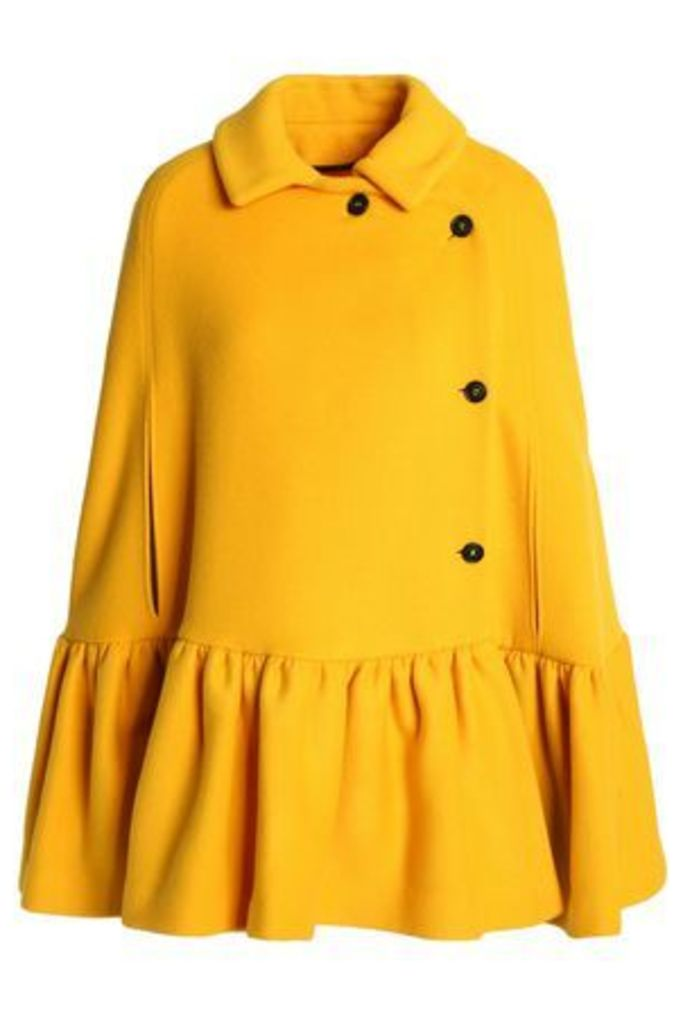 Msgm Woman Double-breasted Wool-blend Cape Marigold Size 42
