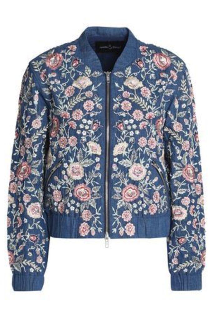 Needle & Thread Woman Casual Jackets Mid Denim Size 8