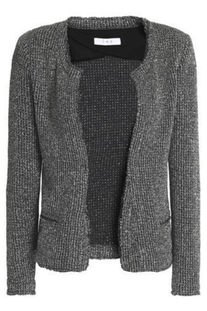 Iro Woman Metallic Knitted Jacket Silver Size 44