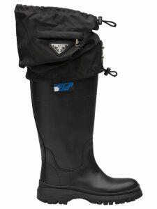 Prada gaiter detail boots - Black