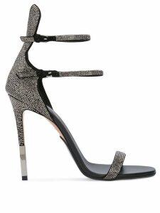 Balmain crystal embellished sandals - Black
