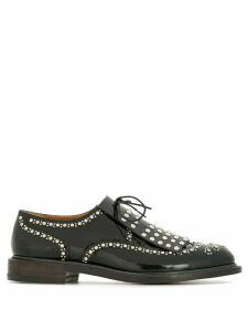 Clergerie studded lace-up shoes - Black