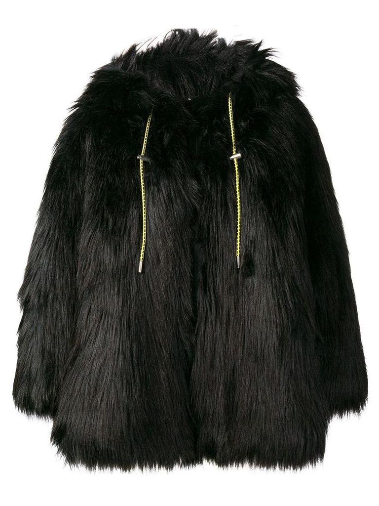 Diesel faux fur coat - Black