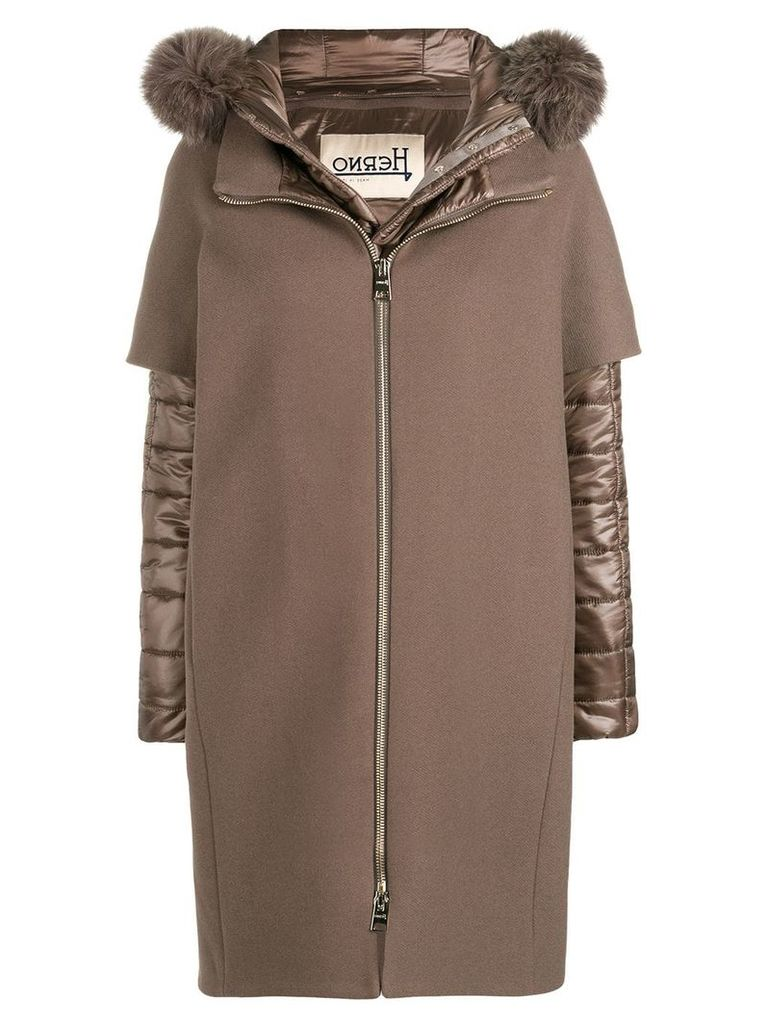 Herno padded cape coat - Brown
