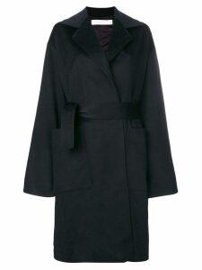 Victoria Beckham single-breasted belted coat - Blue