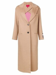 Hilfiger Collection oversized single-breasted coat - NEUTRALS