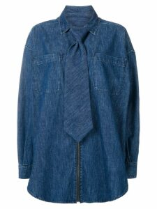 Diesel Red Tag tie detail denim shirt - Blue