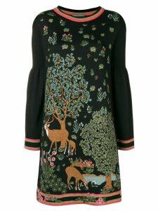 Alberta Ferretti printed dress - Black