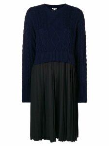 Kenzo longsleeved dress - Blue