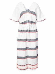 lemlem striped v-neck dress - Grey