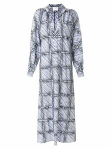 Giambattista Valli windowpane shirt dress - Blue