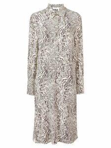 Chloé abstract print silk dress - NEUTRALS