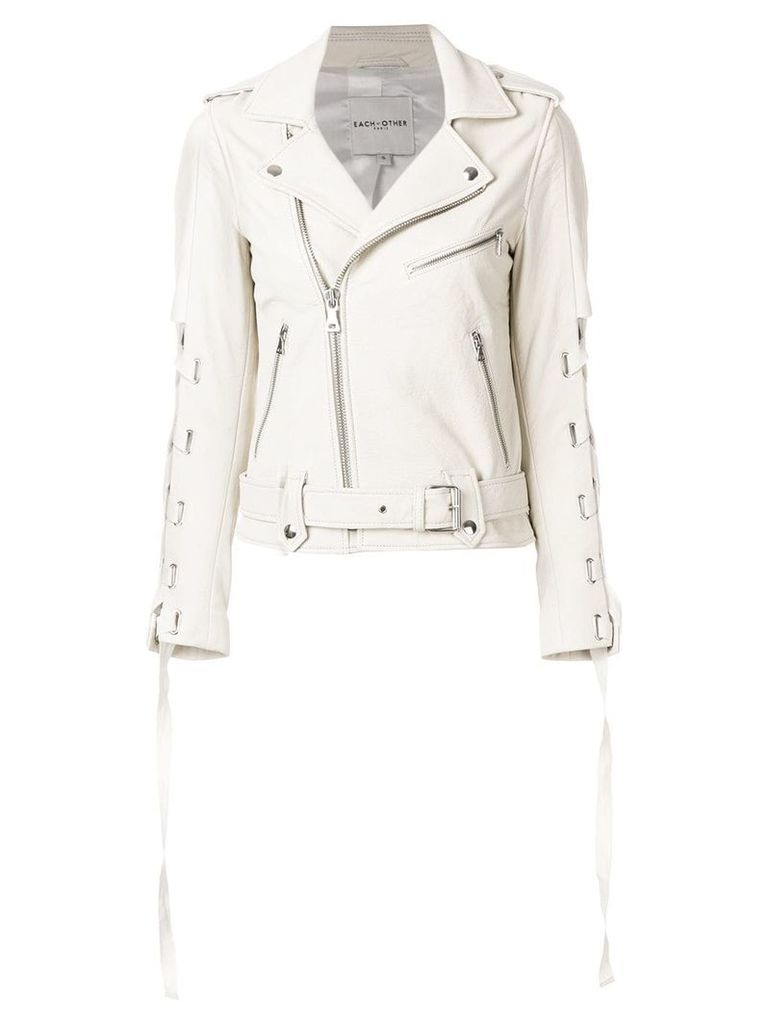 Each X Other lace-up sleeve biker jacket - White
