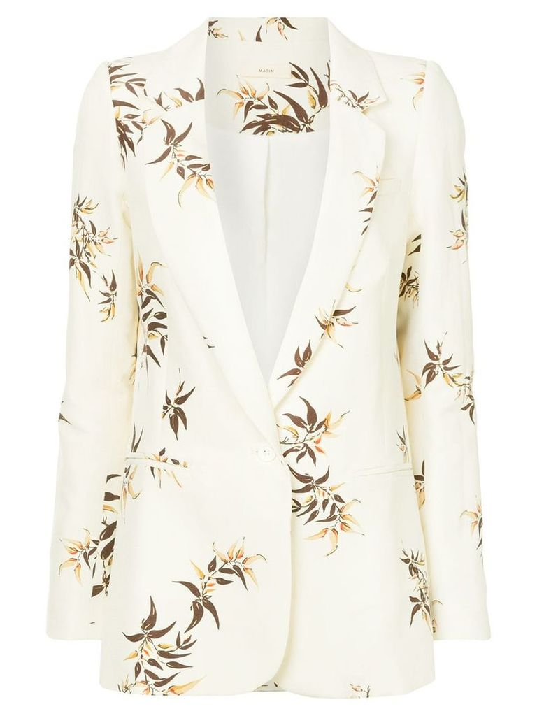 Matin Madryn Bamboo Print Suit Jacket - Nude & Neutrals