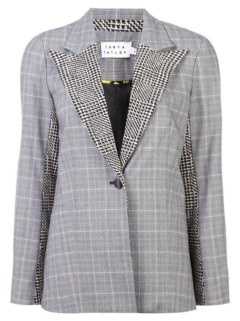 Tanya Taylor Glen check oversized jacket - Grey