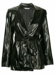 Georgia Alice belted faux-leather jacket - Black
