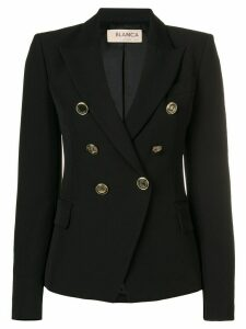 Blanca Vita double breasted blazer - Black