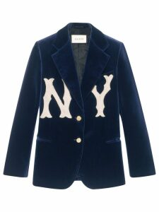 Gucci Velvet jacket with NY Yankees™ patch - Blue