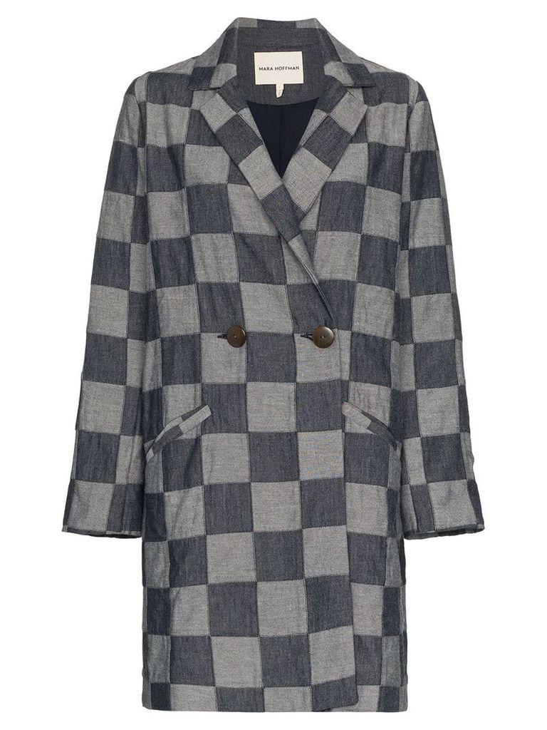 Mara Hoffman Dolly Checked Jacket - Blue