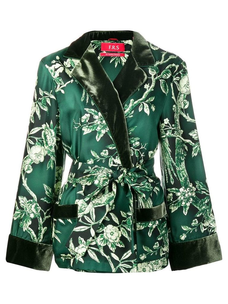 F.R.S For Restless Sleepers floral belted jacket - Green