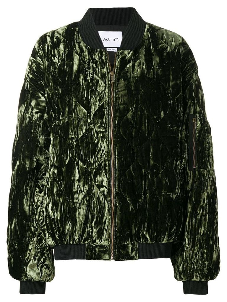 Act N°1 quilted bomber jacket - Green