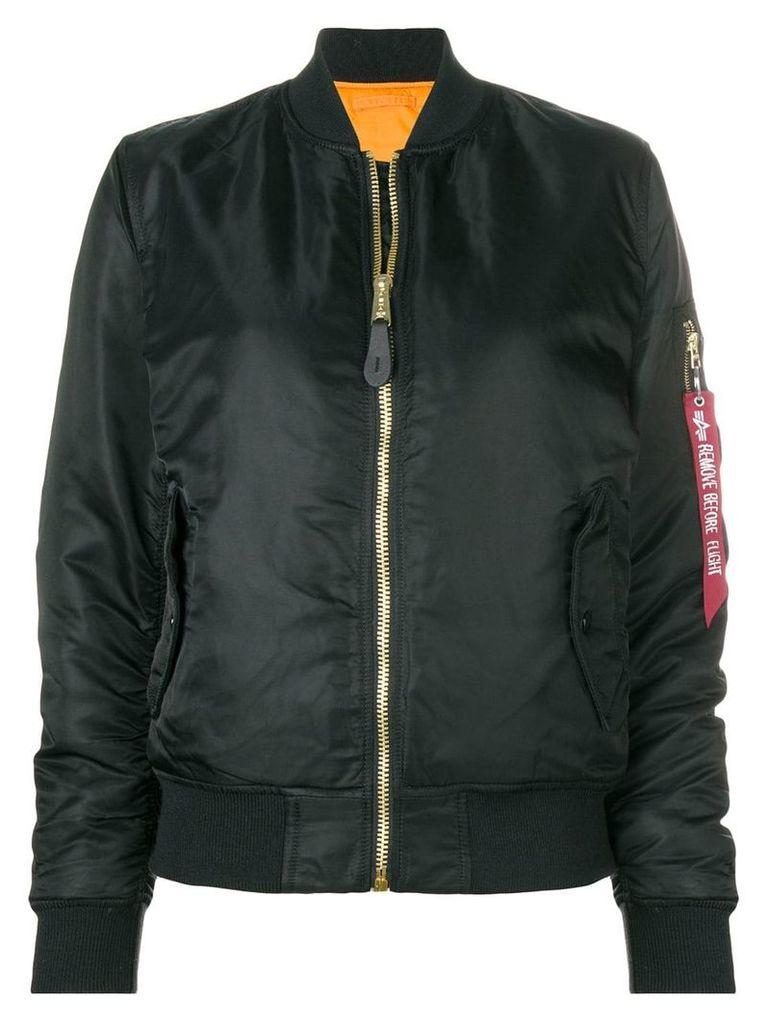 Alpha Industries classic zipped bomber jacket - Black