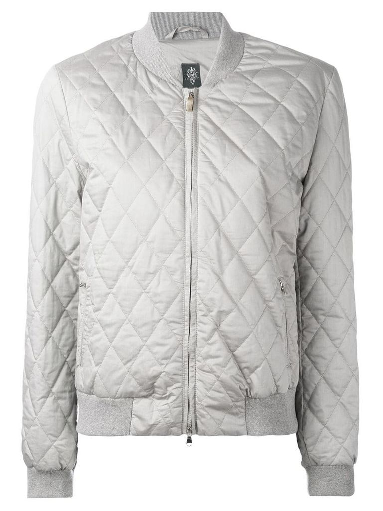 Eleventy quilted bomber jacket - Grey