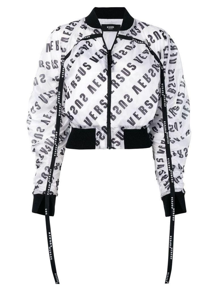 Versus logo bomber jacket - White