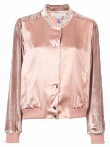 Fleur Du Mal satin-velvet bomber jacket - PINK