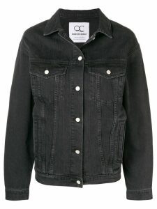 Quantum Courage Love Me Forever Or Never denim jacket - Black