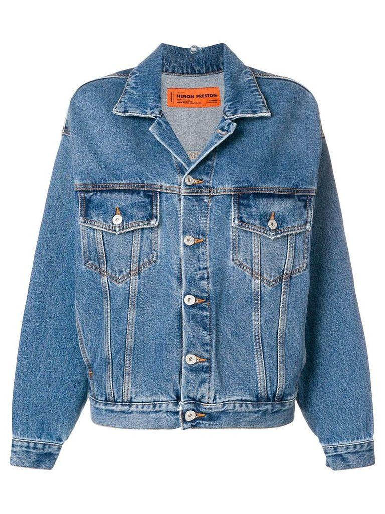 Heron Preston oversized denim jacket - Blue