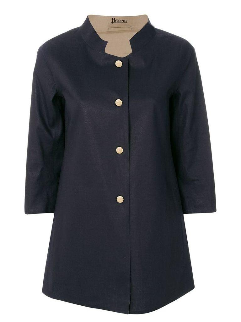 Herno Mack Spirit A-shape reversible jacket - Blue