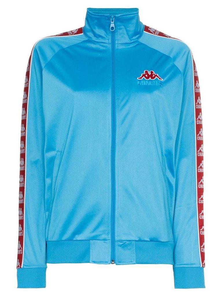 Charm's x Kappa logo embellished and side detail jacket - Blue