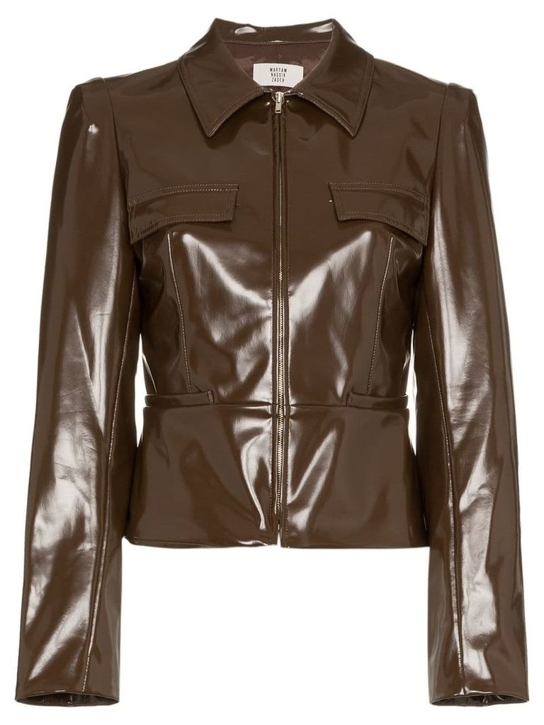 Maryam Nassir Zadeh fitted zip jacket - Unavailable