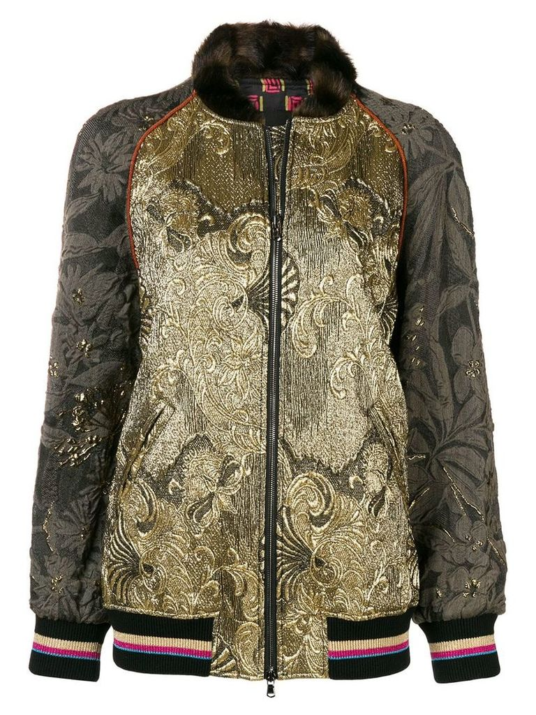 Etro embroidered detail fitted jacket - Metallic