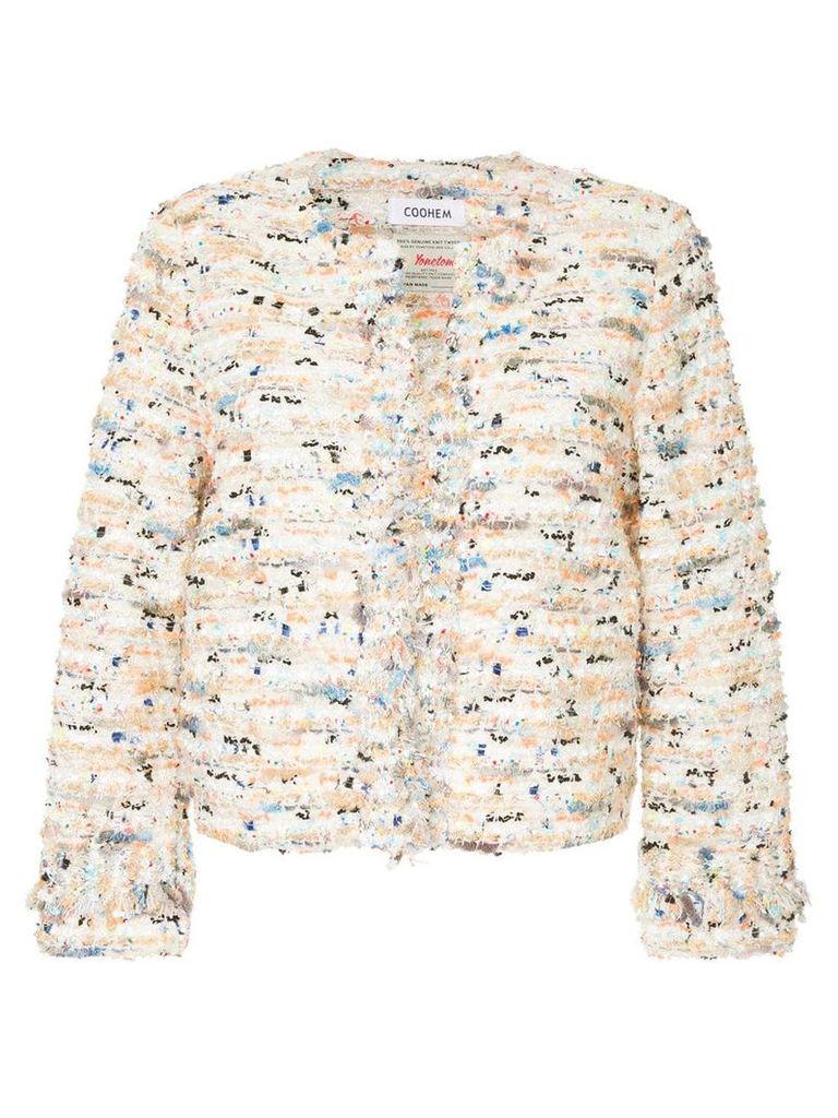 COOHEM Vimar tweed jacket - White