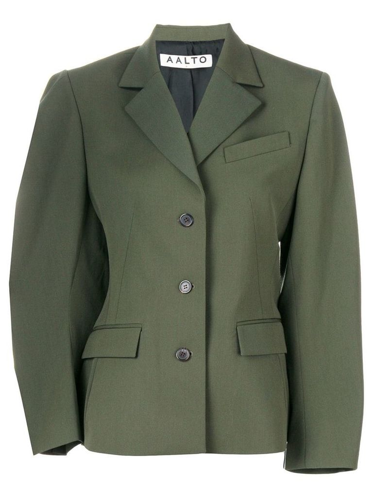 Aalto fitted single-breasted jacket - Green