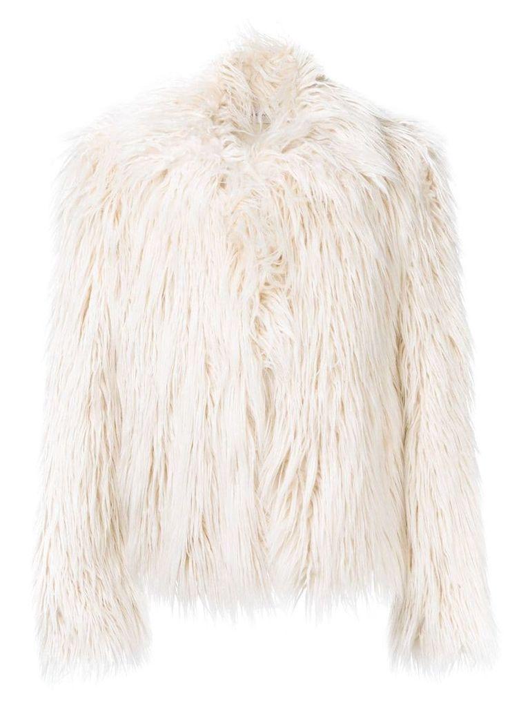 Faith Connexion faux fur jacket - Nude & Neutrals